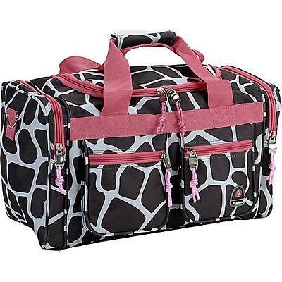 "Rockland Luggage Freestyle 19"" Tote Bag - Pink Giraffe Trave"