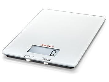 Soehnle 65118 1 6676-Bascula de Cocina Purista, Sensor táctil, Vidrio, De plástico, Color Blanco: Amazon.es