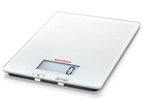 Soehnle 6676 - Bascula de cocina Purista, sensor táctil