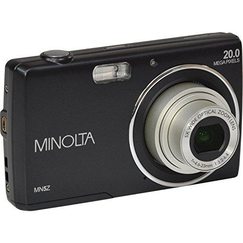 Minolta 20 Mega Pixels Digital Camera, 5x Optical Zoom & HD Video with 2.7'' LCD, Black (MN5Z-BK) by Minolta