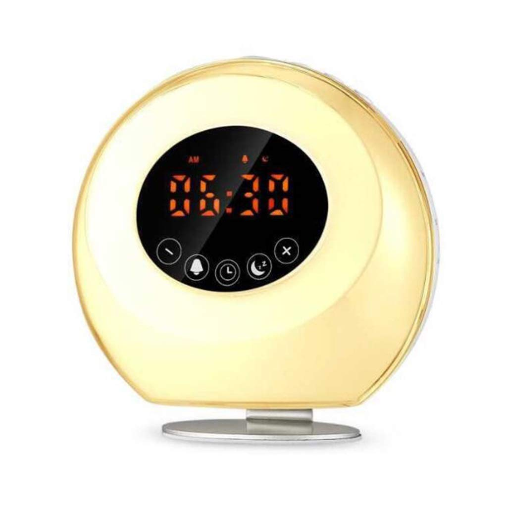 TD Wake Up Light, Music Sleeping Lamp Bedroom Bedside Lamp Wake-up Light Night Light Improve Insomnia Natural Light Alarm Clock Q0051