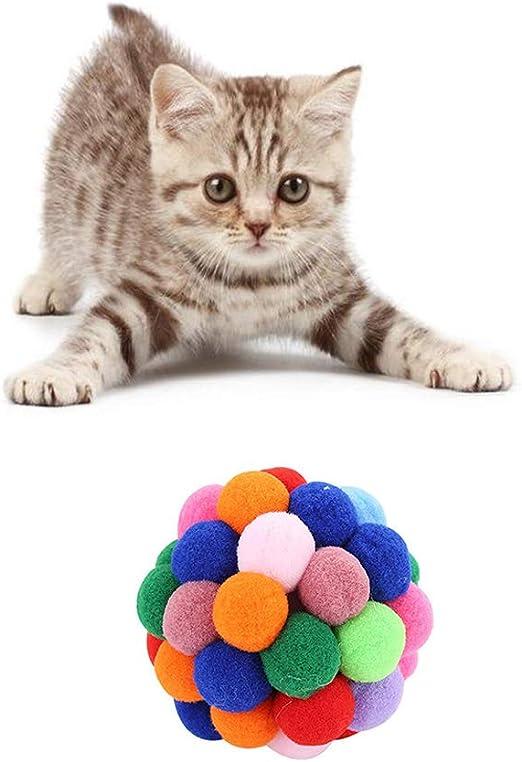 ARTIFUN Gatos Juguete Pelota Que rebota Pelota de Juguete para ...