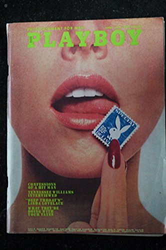 PLAYBOY Us 1973 04 TENNESSEE WILLIAMS LINDA LOVELACE JULIE WOODSON INTEGRAL NUDE Lena Soderberg