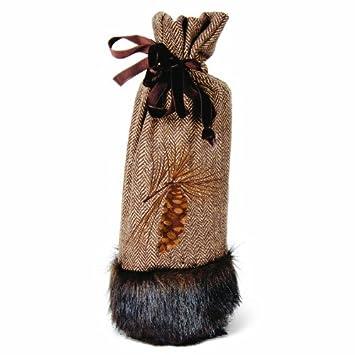 Amazon.com | Christmas Holiday Wine Bottle Bag/Stocking/Holder ...