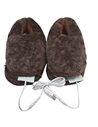 USB Heating Shoes Slippers Keep Feet Warm Electric Powered Shoes Coldproof
