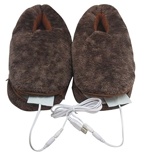 USB Heating Shoes Slippers Keep Feet Warm Electric Powered Shoes Coldproof JINXIN