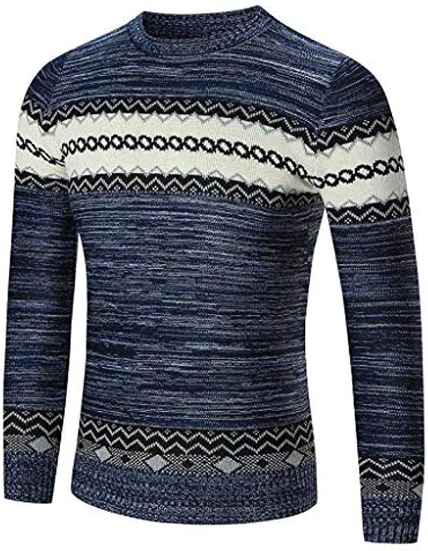 HX fashion męski sweter dziergany Menswear samochÓd/zima Knit Knitwear sweter wygodny rozmiar nadruk sweter z dzianiny sweter vintage długi rękaw okrągły dekolt sweter męski sweter ubranie: