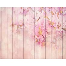 Vinyl Backdrops for Photography 7X5 Pink Floral Wood Floor Newborn Baby Photocall Digital Printed Photo Background Cloth Kid