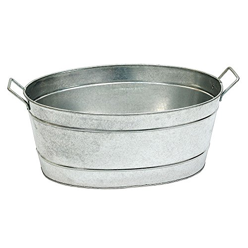 Achla C 51 Oval Galvanized Tub