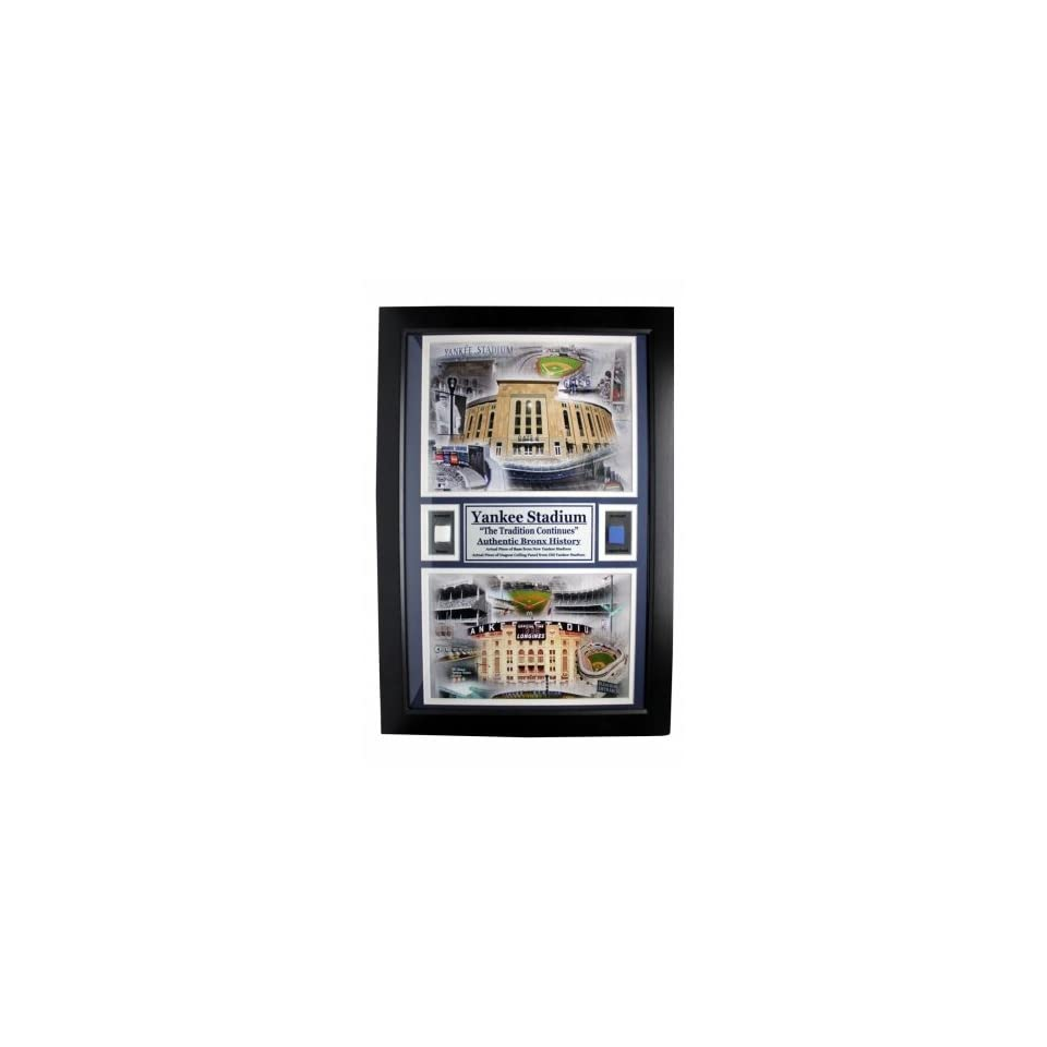 Encore Select 180G2 BBNYYstd New York Yankees Yankee Stadium 12 in. x 18 in. Double Game Used Frame