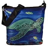 Sea Turtle Large Cross Body Bag - Wearable Art, From My Original Paintings - Support Wildlife Conservation, Read How (Sea Turtle - Wisdom)