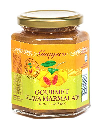 (Guava Gourmet Guava Marmalade (12oz, Jar) with Tropical Guava Fruit Chunks, All-Natural, Non-GMO, Vegan, Gluten and Cholesterol-Free, Artisan Craft Marmalade, No Fillers or Preservatives )