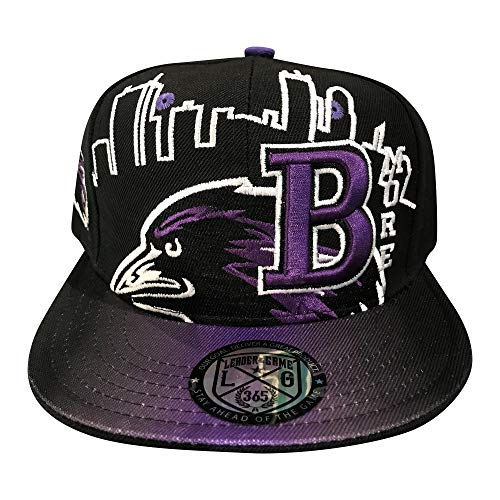 LEADER OF THE GAME New Baltimore Skyline3 Hat in Ravens Colors Era Black & Purple]()