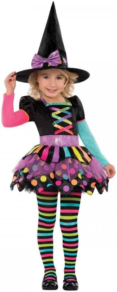 Christys - Disfraz bruja de Halloween para niñas de 3-4 años ...