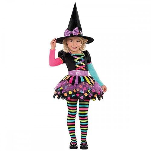 Cat Witch Cute Child Halloween Costume Hat Fancy Dress Girls 4-12 Years