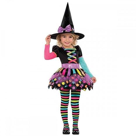 b6e4ca800f4b Joker 996995 Costume strega Halloween, Nero, taglia 4-6 anni: Amazon ...