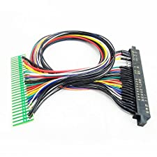 BLEE Jamma Harness DIY Arcade Extended Wire with 28 pin Jamma Connection for Coin Operated Arcade Games Machine Accessory Part (50cm)