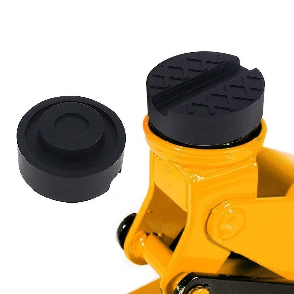 Negro Kindax 2pcs Goma Gato Hidraulico Bloque de Goma Universal Protector para Elevador Coche