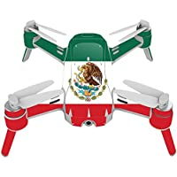 Skin For Yuneec Breeze 4K Drone – Mexican Flag | MightySkins Protective, Durable, and Unique Vinyl Decal wrap cover | Easy To Apply, Remove, and Change Styles | Made in the USA