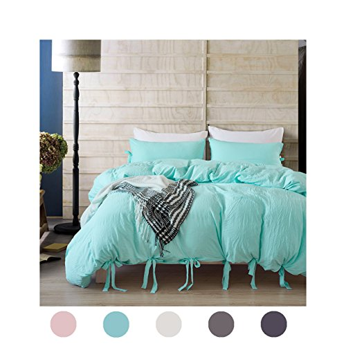 Moreover 3 Pieces Turquoise Blue Bedding Turquoise Duvet Cover Set Bowknot Design Turquoise Microfiber Bedding Set King One Bowknot Duvet Cover Two Bow Tie Pillowcases (King, Turquoise - Items Tiffany Co And Clearance