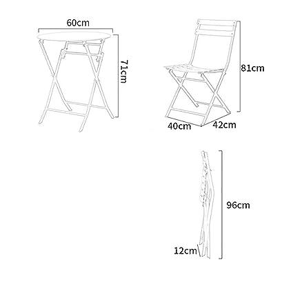 Moderne Minimaliste Chaise En Et Pliable Fer Forgé Table Leqi OXPuTkZi