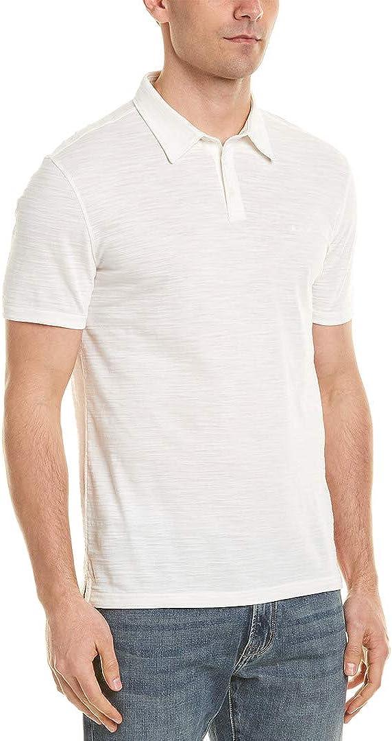 John Varvatos Mens Short Sleeve Variegated Stripe 3 Star Polo