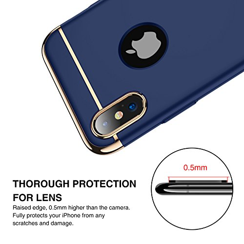 0553c2d87663 iPhone X Case, iPhone 10 case RANVOO 3 in 1 Stylish Thin and Slim Hard