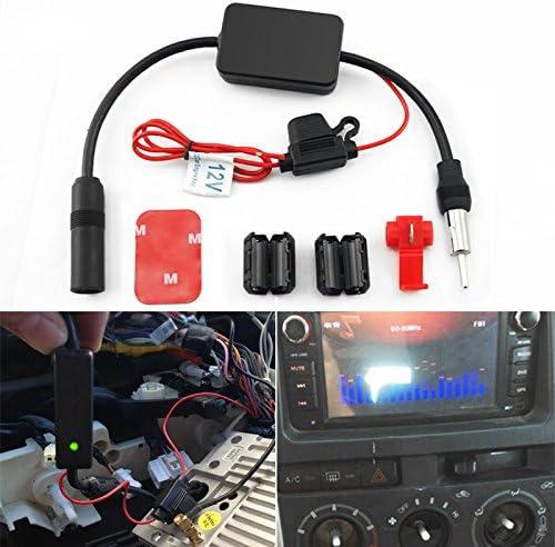 FEELDO Amplificador de señal AM/FM para coche con radio Arial