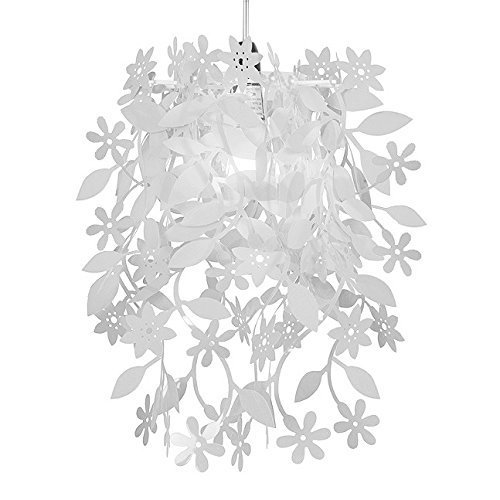 Beautiful white floral flowers and leaves dropping chandelier beautiful white floral flowers and leaves dropping chandelier ceiling pendant light shade aloadofball Choice Image