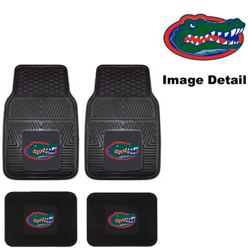 (UF University of Florida Gators Front & Rear Car Truck SUV Vinyl Car Floor Mats - 4PC)