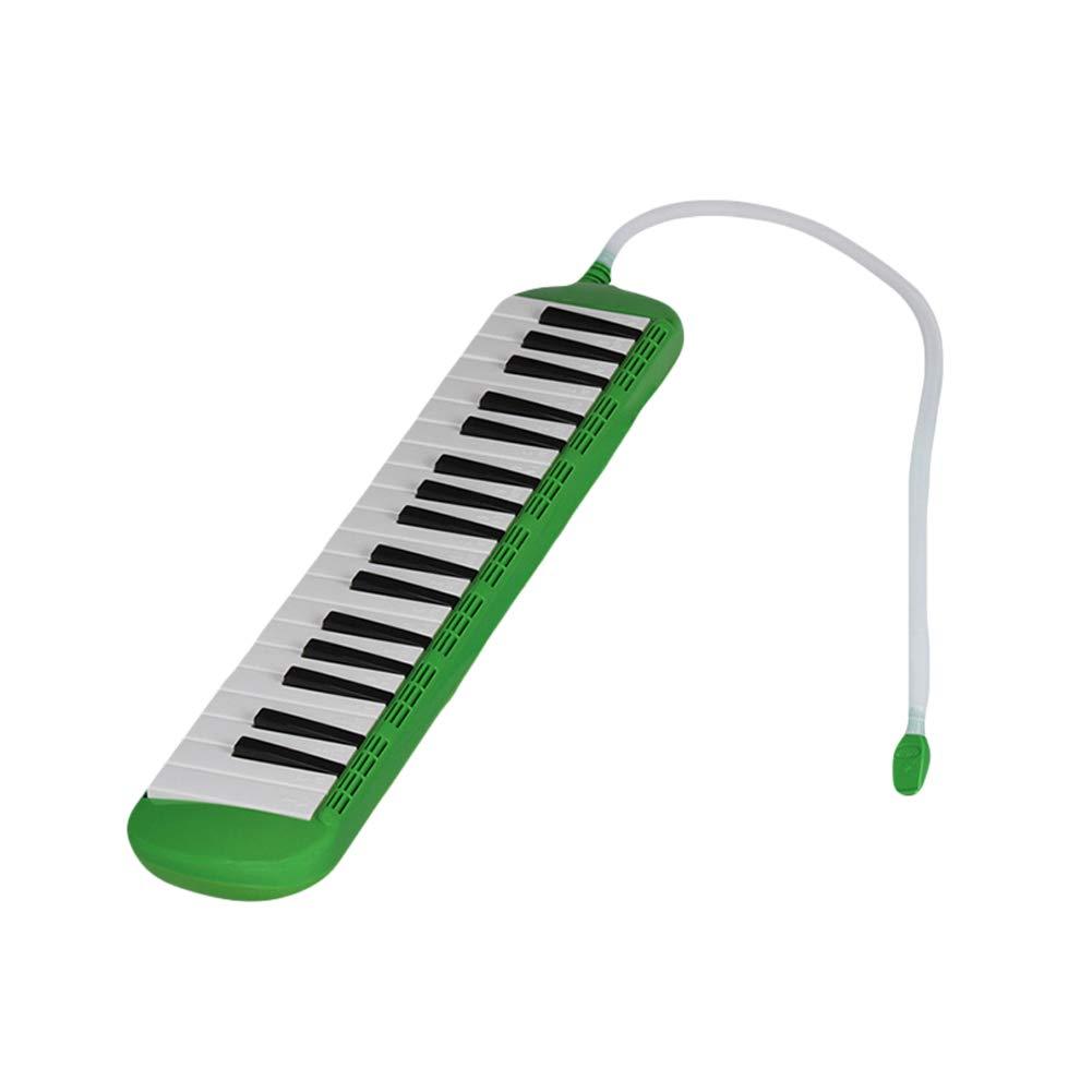 heaven2017 37 Key Melodica Kids Mouthpiece Tube Piano Keyboard Instrument Green