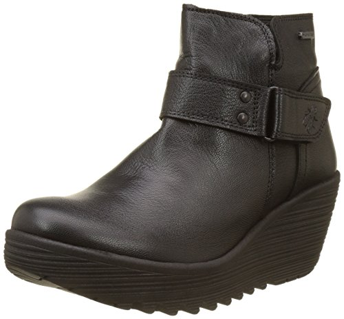 FLY London Women's YOCK062FLY Mid Calf Boot, Black Mousse, 41 M EU (10-10.5 US)