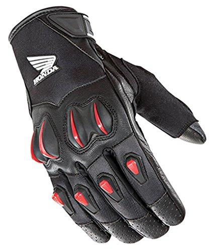 Honda Gloves Motorcycle - Joe Rocket Cyntek Honda Mens Mesh On-Road Motorcycle Leather Gloves - Black/Red / Medium