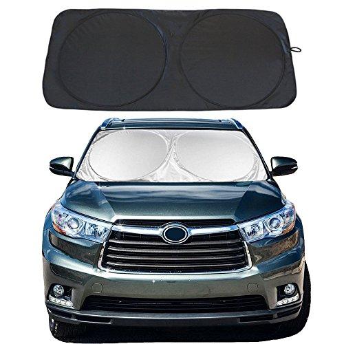 """YiDee Windshield Sun Shade Car Window Shade UV Reflector Keeps Vehicle Cool Folding Sun Visor Heat and Sun Reflector (Large:63"""" X 33.9"""")"""