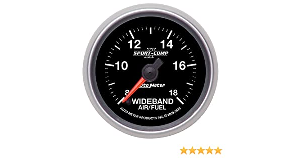 Auto Meter 3370 Sport-Comp 2-1//16 Wideband Air//Fuel Ratio Analog Gauge