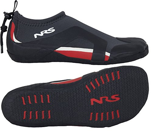 NRS Kinetic Water Shoe Black/Red 7 by NRS