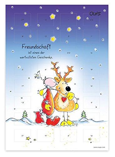 Oups Adventkalender 2017: Freundschaft ist eines der wertvollsten Geschenke Kalender – Adventskalender, 1. August 2017 Kurt Hörtenhuber Günter Bender werteArt Verlag 3902763922