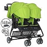ZOE Umbrella XL2 Double Stroller - DELUXE - Lime Green