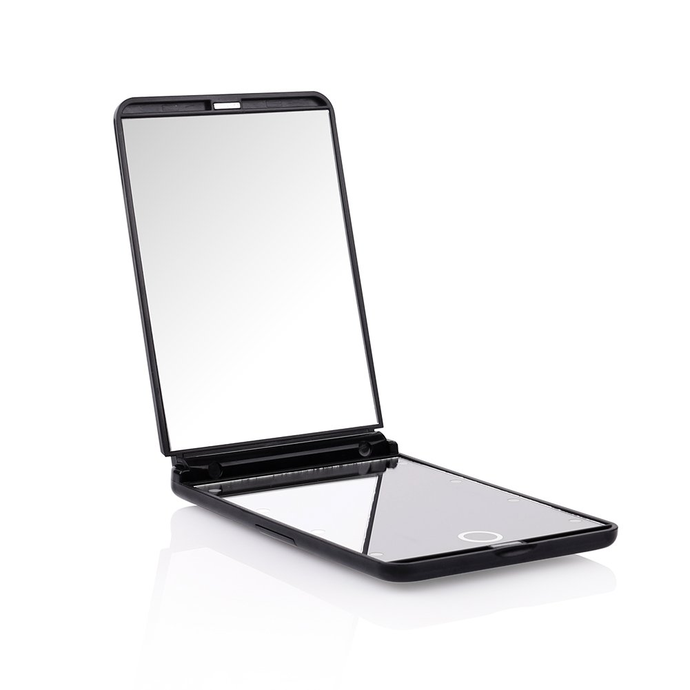 DUcare Portable Vanity Mirror Led Lighted Lights 8 1X & 2X Magnification Hand Mirror Cosmetic Mirror