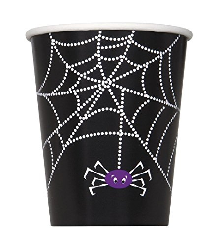 9oz Spider Web Halloween Party Cups, (Dangling Spider Web)