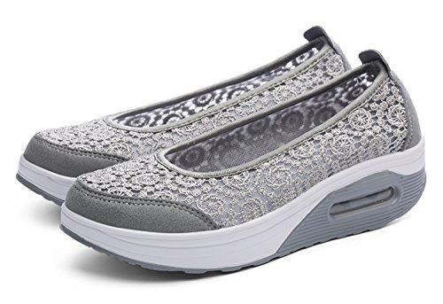 on Slip Grey Top WSKEISP Sneaker Lightweight Breathable Low zqxfOa