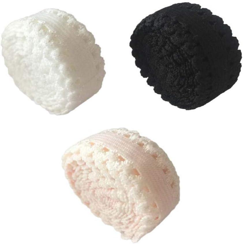 Healifty Nastro di Pizzo Bianco Ricamato Nastro di Pizzo per Cucire E Decorazioni Nuziali Nuziali
