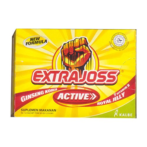 Extra Joss Active Energy Drink Powder, 1 Pack (12 Sachets @4gr)