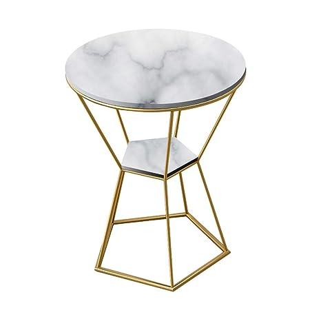 Amazon.com: Mesa auxiliar de mármol de moda nórdica de ...