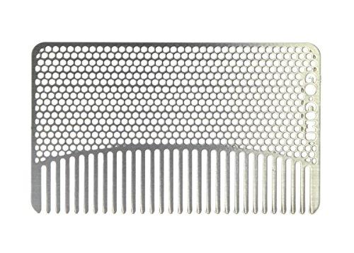 Go-гребень - тонкозубый Wallet гребень (бороды, усы и короткие волосы) - нержавеющая сталь