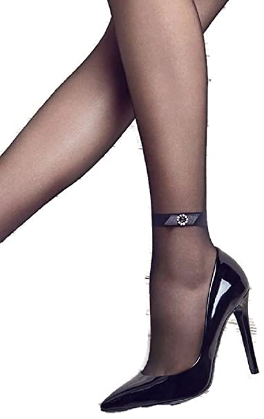 1eb513524 Patrizia Gucci designed for Marilyn Fashion Tights w Diamond Ankle Band    Bow (S