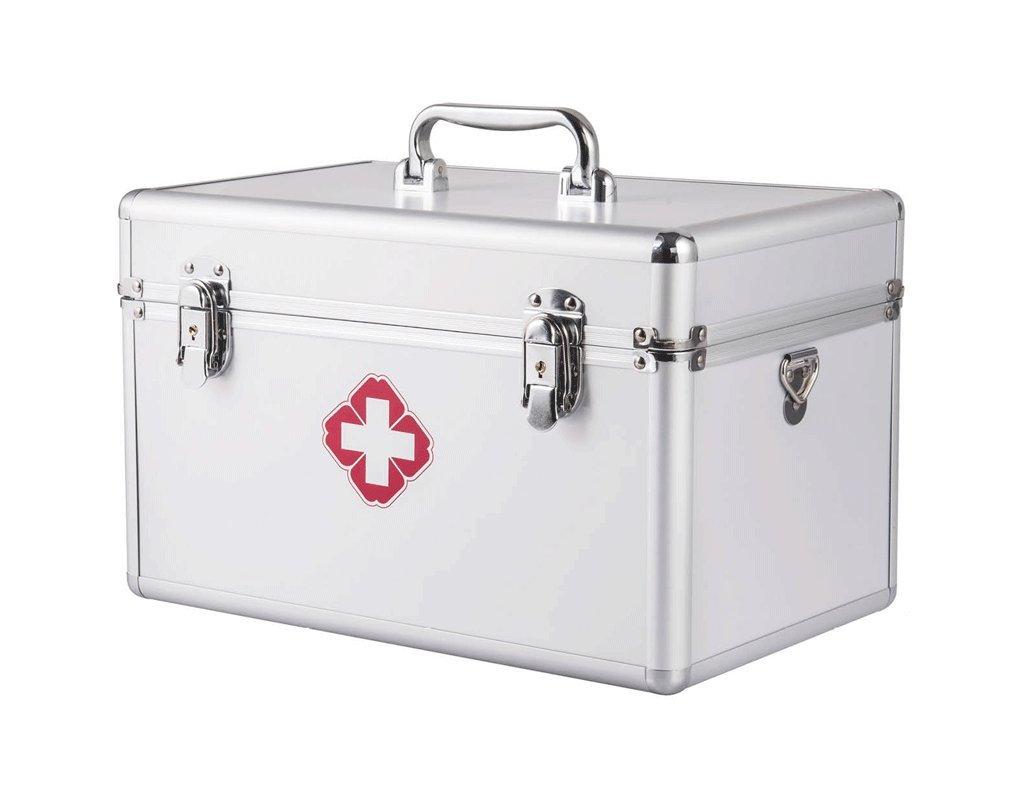 Les kits de boîte de médecine d'alliage d'aluminium surdimensionnés de famille de famille contenant des visites