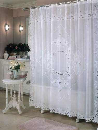 EX-CELL HOME FASHIONS Shower Curtain//Liner Extra-Long Heavy-Duty PEVA White,