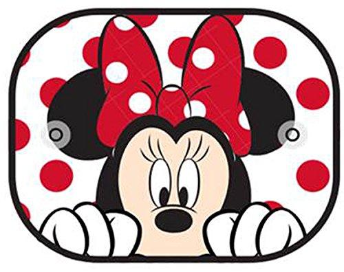 Plasticolor 003782R01 Disney Minnie Peek-A-Boo Side Window Mesh Sunshade, 2 Piece