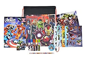 Marvel Avengers School Supplies Bundle Pack, with Stationary Set, Avengers Sling Bag, and More